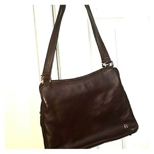 Reg $250 Etienne Aigner Leather Burgundy purse